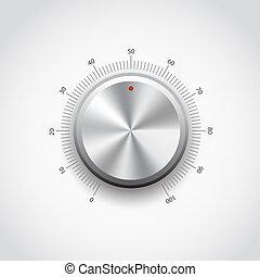 Metal Button - This image represents a metal knob./Metal...