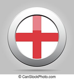 metal button with flag of England