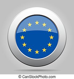 metal button with Flag of Europe