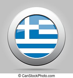metal button with flag of Greece