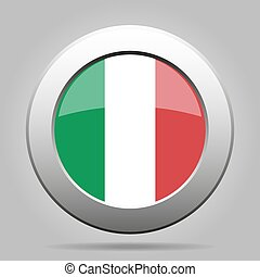 metal button with flag of Italy