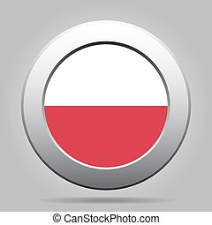 metal button with flag of Poland