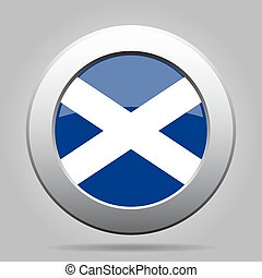 metal button with flag of Scotland