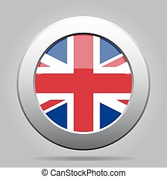 metal button with flag of UK