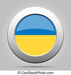 metal button with flag of Ukraine