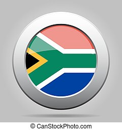 metal button with flag - South Africa