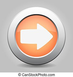 metal button with the orange arrow