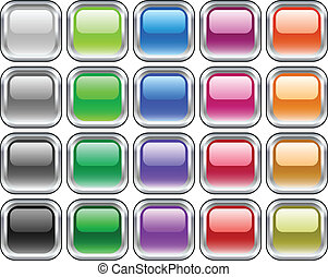 Metal buttons. [Vector] - A lot of metal buttons. Vector...
