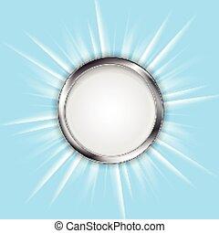 metal, círculo, e, brilhante, sol