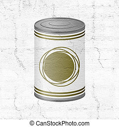metal can of preserved food