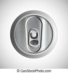 Metal can. Stock illustration.