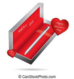 metal, caneta esferográfica