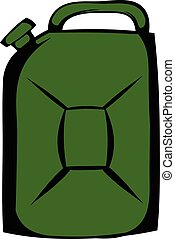 Metal canister icon cartoon