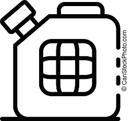 Metal canister icon, outline style
