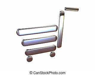 Metal cart - Metaphorical cart made of chrome