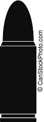 Metal cartridge icon, simple style