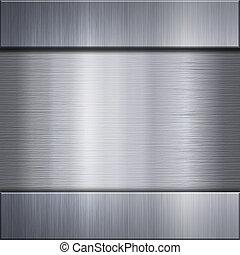 metal cepillado, aluminio, placa