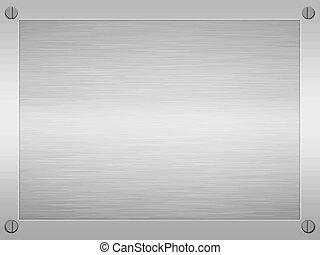 metal cepillado, encuadrado