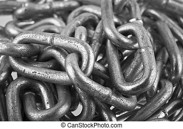 metal chain as a background closeup
