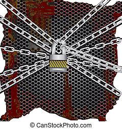 metal chains lock