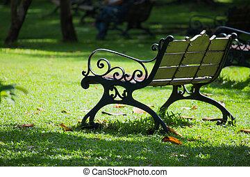 metal chair in park