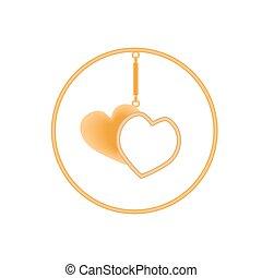 Metal charm heart pendants for necklace or bracelet.
