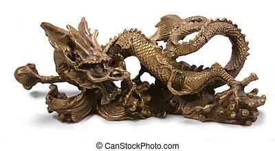 metal chinese dragon statue