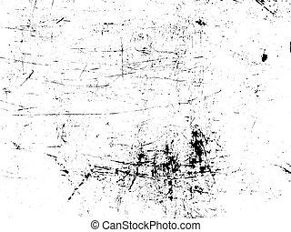 metal, choque, rasguño, mapa