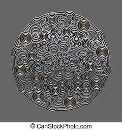 Metal circular patter