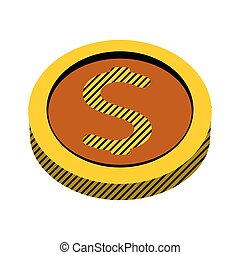 metal cirlce coin money currency vector illustration