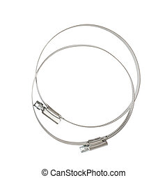 Metal clamps. Isolated on the white background