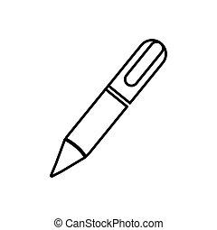 metal classic pen icon