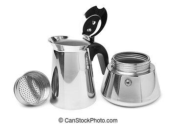 Metal coffeepot