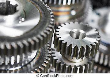 metal cog wheel gears
