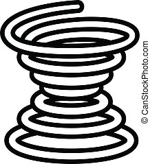 Metal coil icon, outline style - Metal coil icon. Outline ...