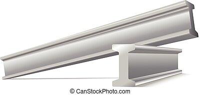 metal construction beams vector iso
