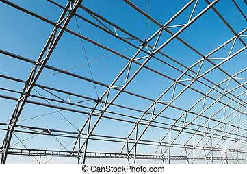 metal construction framework - building construction of...