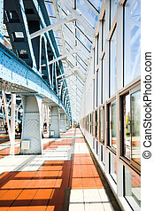 Metal constructions on the bridge