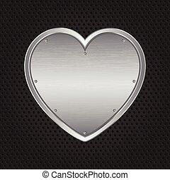 metal, coração
