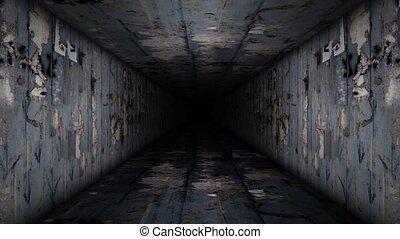 Metal Corridor Loop Video