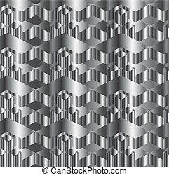 metal, corrugado, textura