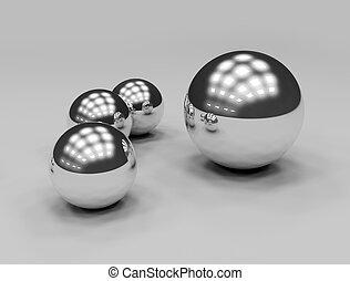 Metal crome balls