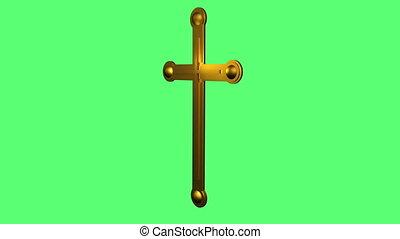 metal Cross Rotating