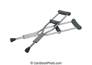 Metal Crutches - Metal adjustable crutches to assist when...