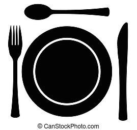 Metal Cutlery Plate Setting