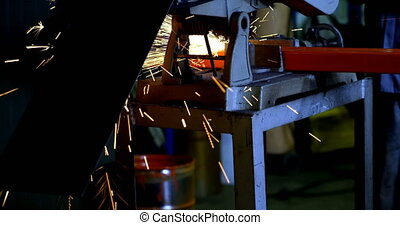 Metal cutter machine and fire sparkling 4k - Metal cutter ...