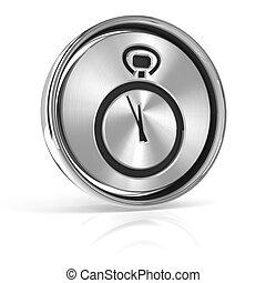 Metal deadline icon, 3d render