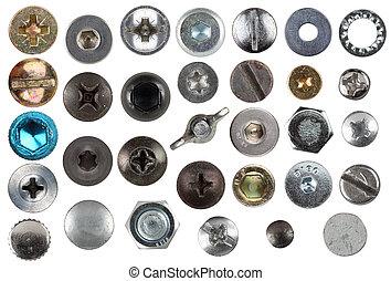 metal detail set - Sammlung von schraubenköpfen