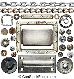Metal details - Screw heads, chains, frames and other metal ...