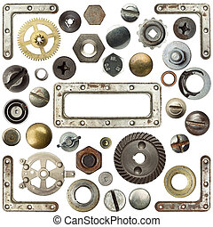 Metal details - Screw heads, frames and other metal details